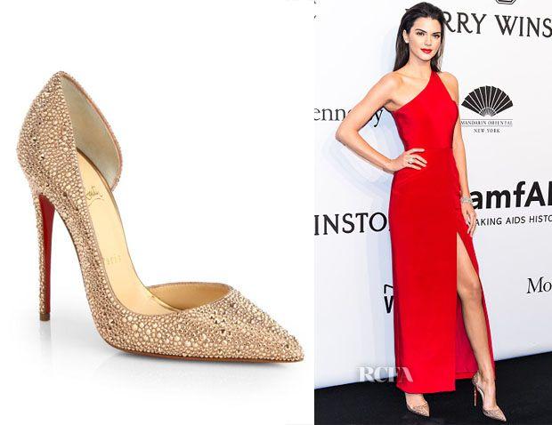 635c2fdef41 Kendall Jenner s Christian Louboutin Iriza Strass Crystal Pumps ...