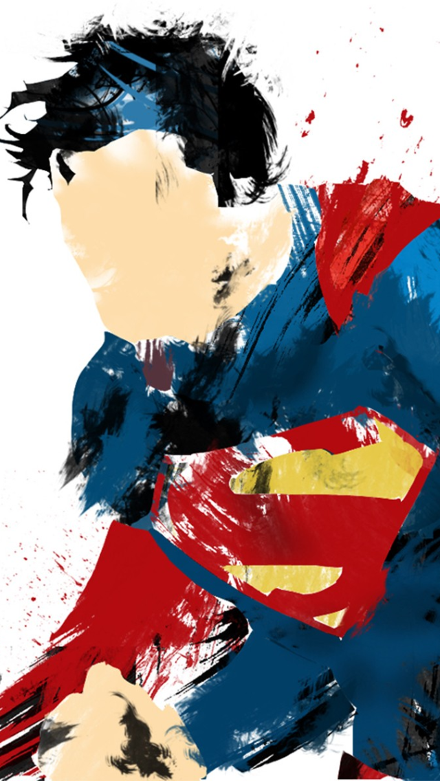 Superman Digital Art Iphone 5 Wallpaper 640x1136