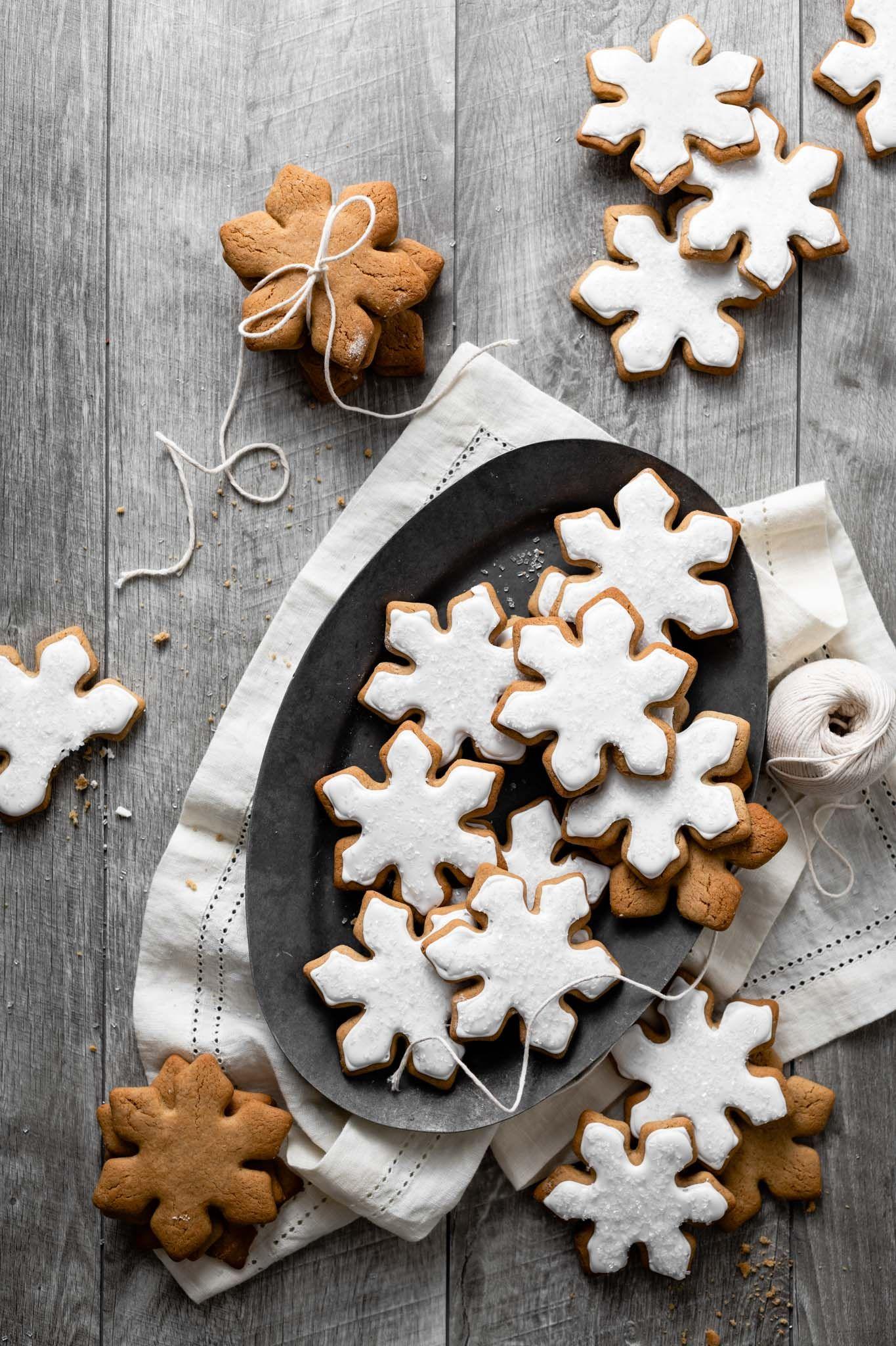 Snowflake Maple Cookies