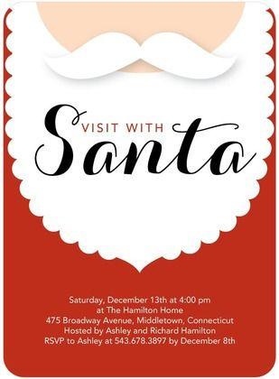 Santa Invitation Design Google Search Santa Flyer Pinterest