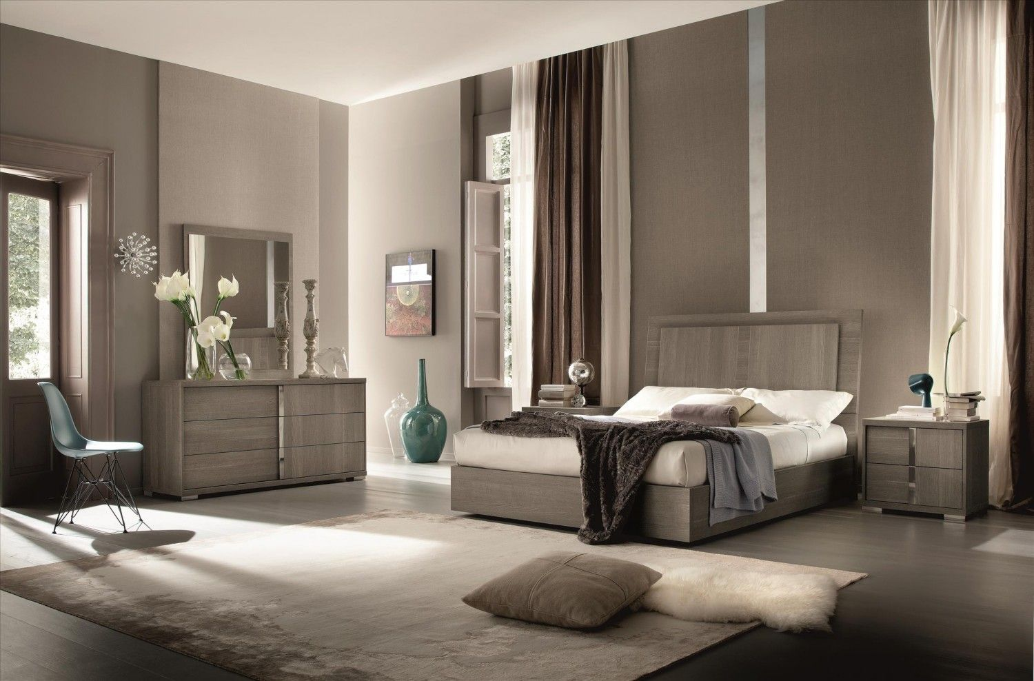 Tivoli Bedroom Set with Storage and Lighting System by ALF