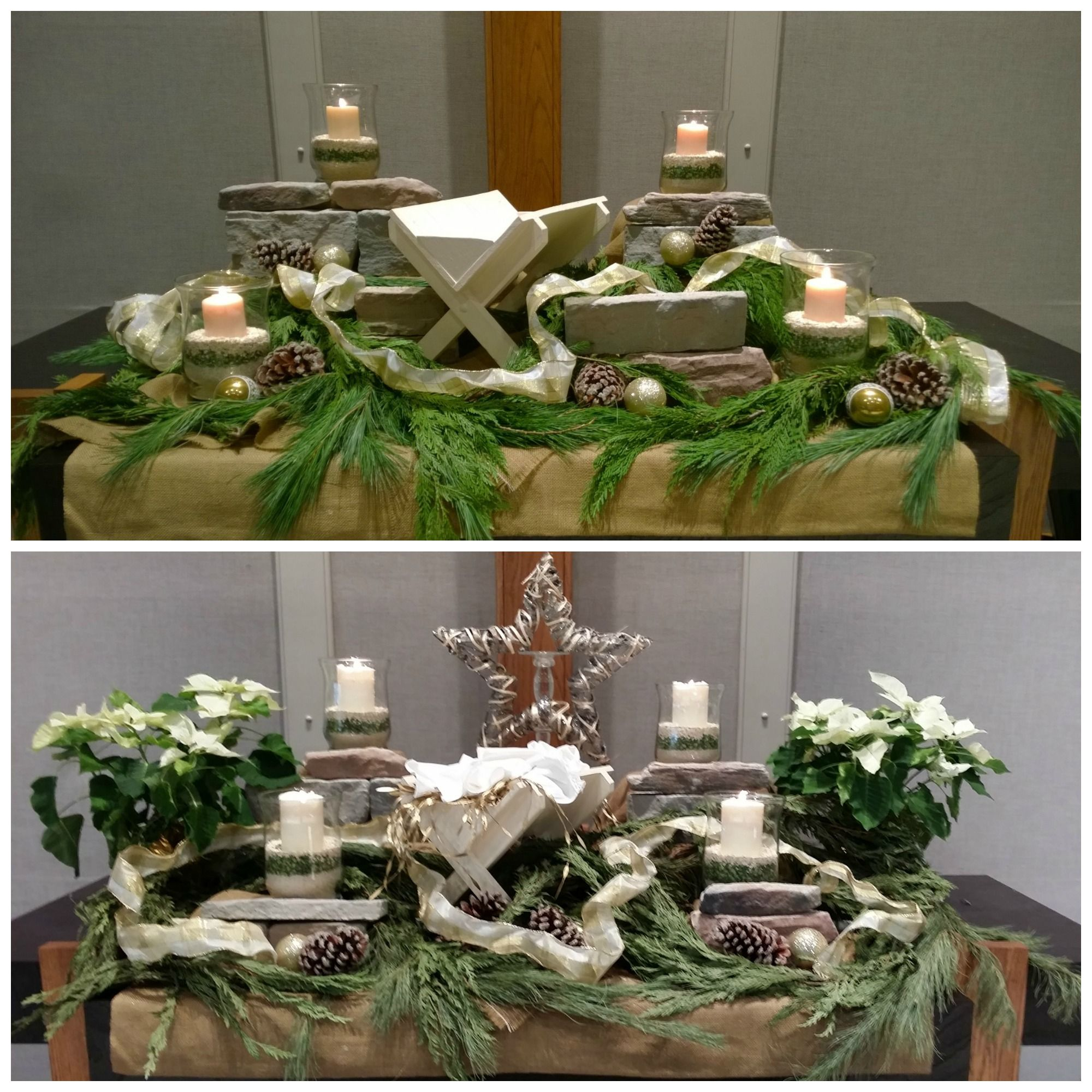 Simple Church Altar Decorations: Natural Altar For December 2014. Top Photo Is Advent