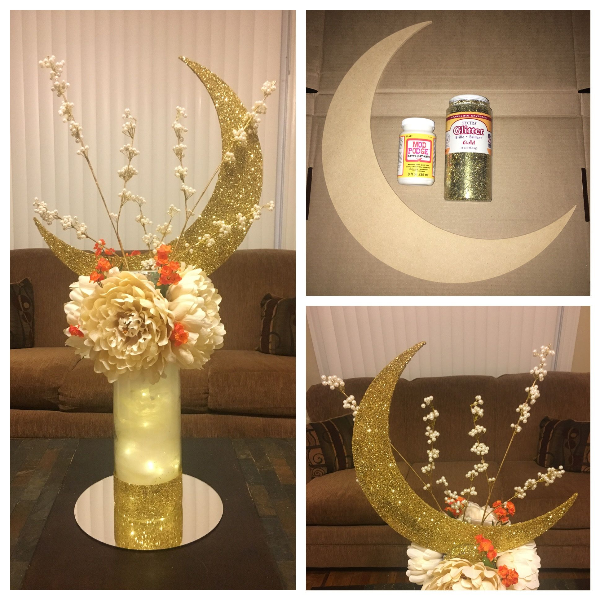 Star Themed Gifts Diy Signature Moon Centerpiece By S Type Pro