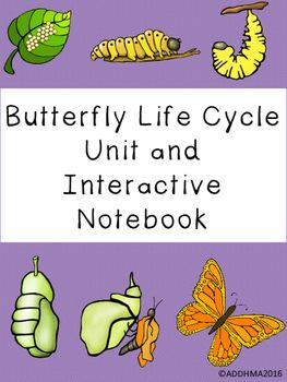 Butterfly Life Cycle Unit And Interactive Notebook Interactive Notebooks Butterfly Life Cycle Life Cycles