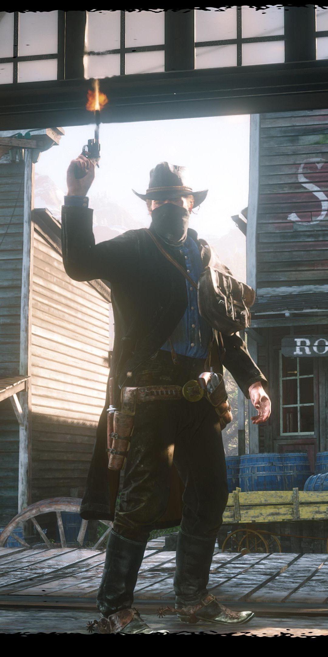 Cowboy Arthur Morgan Red Dead Redemption 2 Video Game 1080x2160