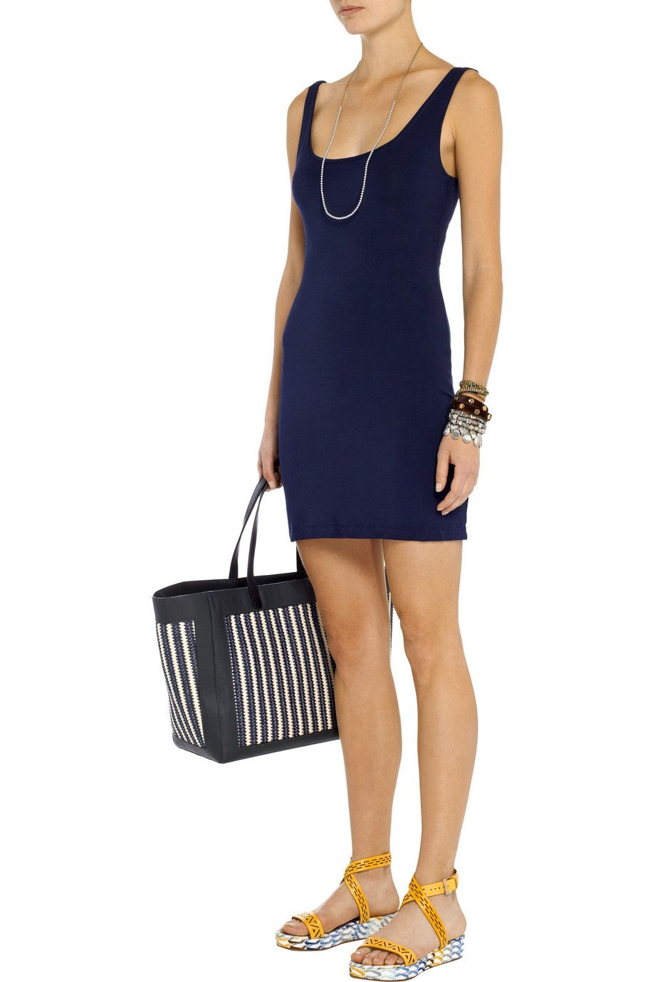 Tartmeret stretchmodal mini dress front styling springsummer