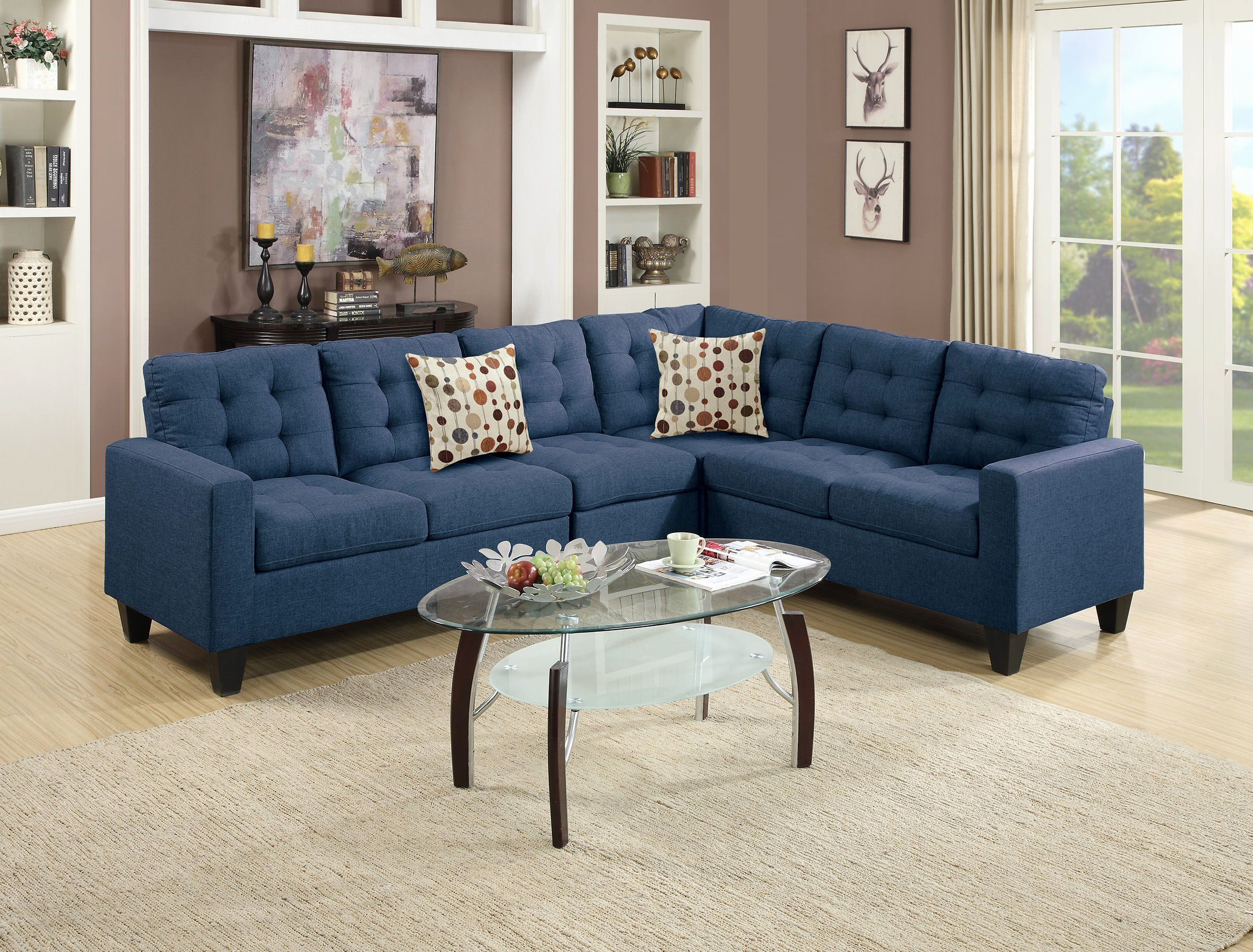 Navy Microfiber Sofa Can You Clean Leather With Steam Cleaner Alema Glam By