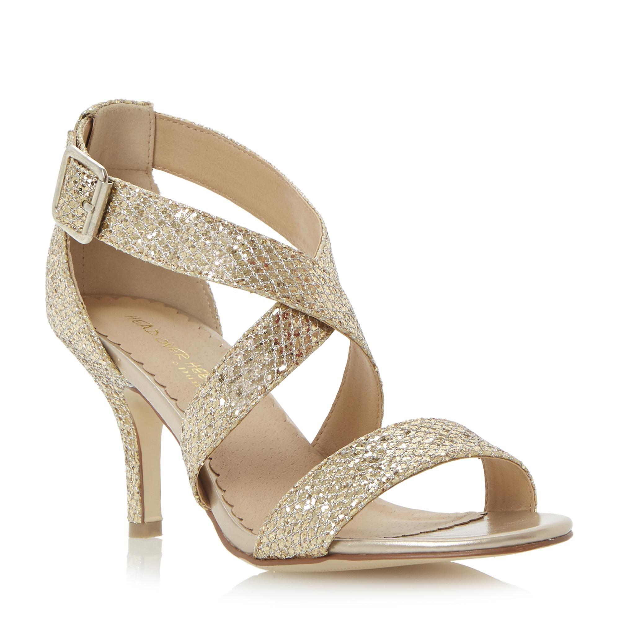 dune glitter sandals