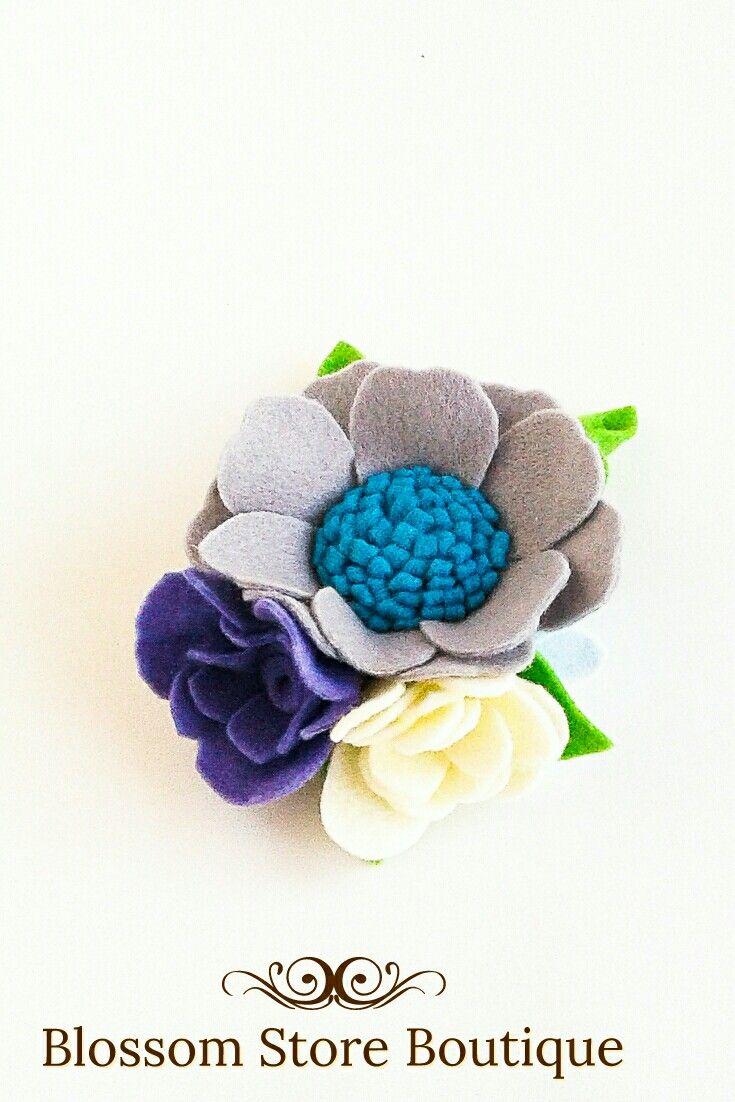 Baby felt flower crown headband nylon Flower girl proposal Toddler bithday crown Newborn girl crown #feltflowerheadbands