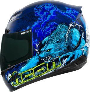 ICON Airmada Thriller Blue Helmet