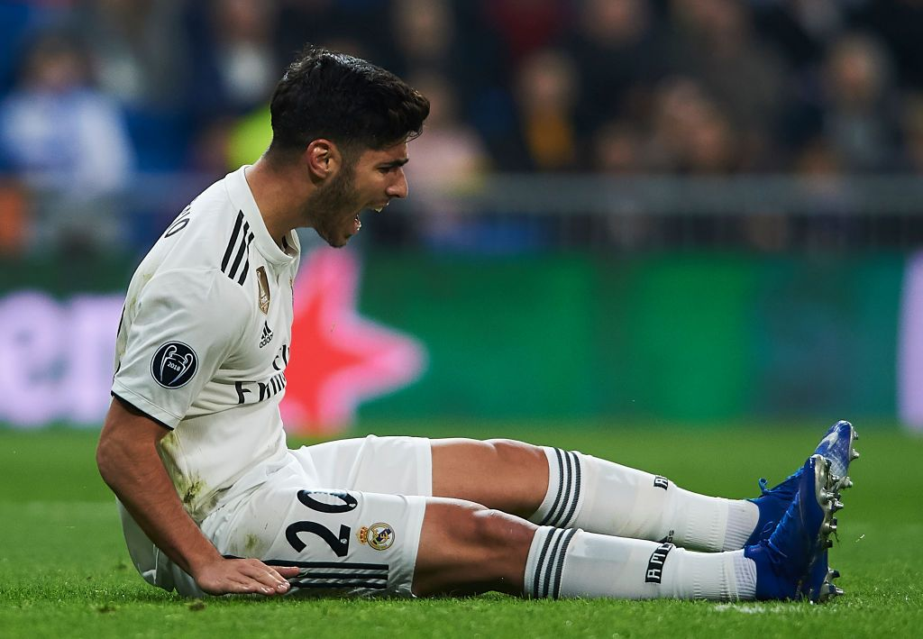 Marco Asensio of Real Madrid reacts during the UEFA ...