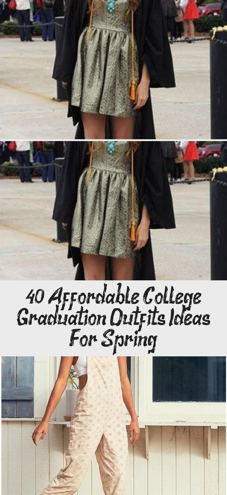 Stunning 10 Affordable College Graduation Outfits Ideas For Spring