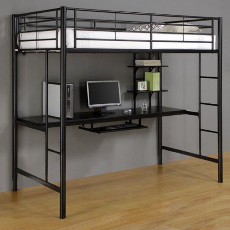 Sunset Workstation Loft Bed - Black - BTOZBL | Products | Pinterest