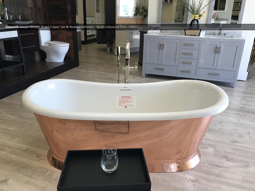 Bathroom Showrooms Torrance Ca americh sawyer smooth bright copper tub @ modern bathroom - north