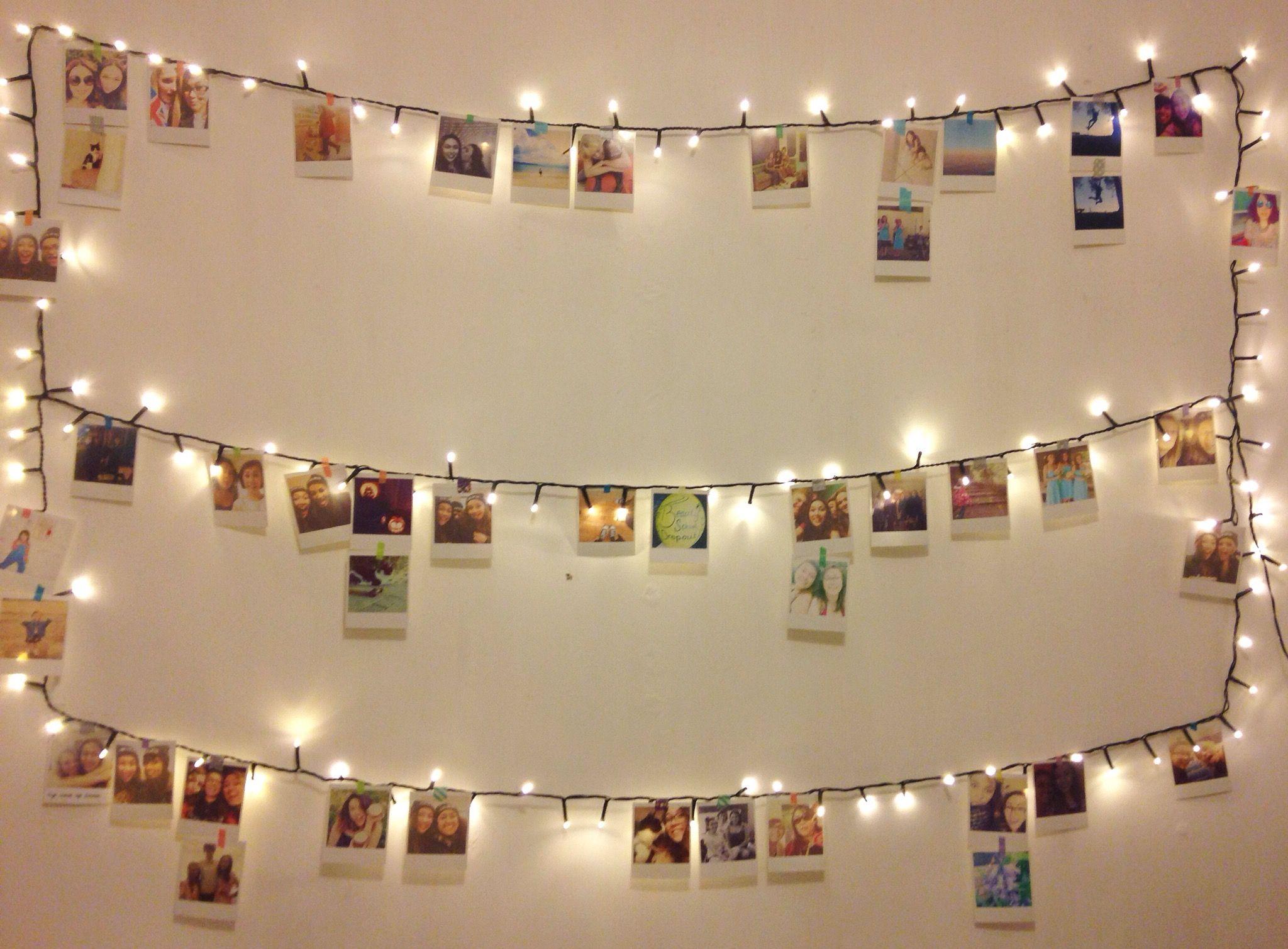 Polaroid Wall Diy Funky Home Decor Fairy Lights Photos Cafe Display