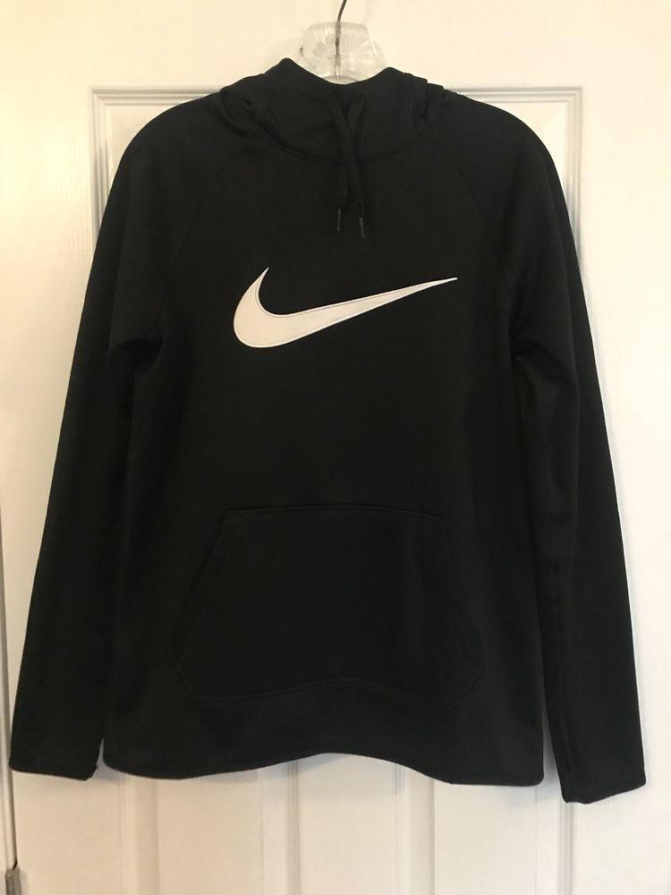 8987c96cced3 Women s Nike Dri-Fit Black Pull Over Hoodie Sweatshirt Small  fashion   clothing