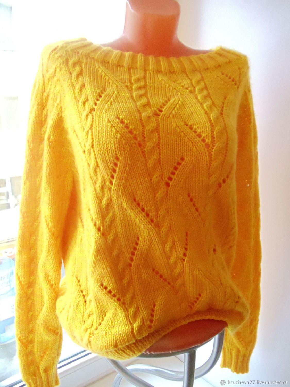 купить свитер женский вязаный желтыйсвитера женские спицами