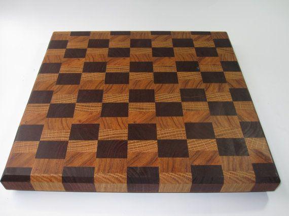 sweetlooking unique cutting boards. Walnut Hickory  White Oak End Grain Cutting Board by psItsDebbie 95 00