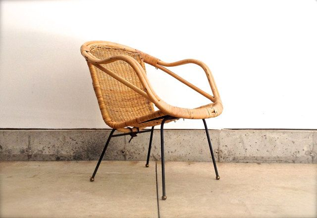Mid Century Rattan Chair