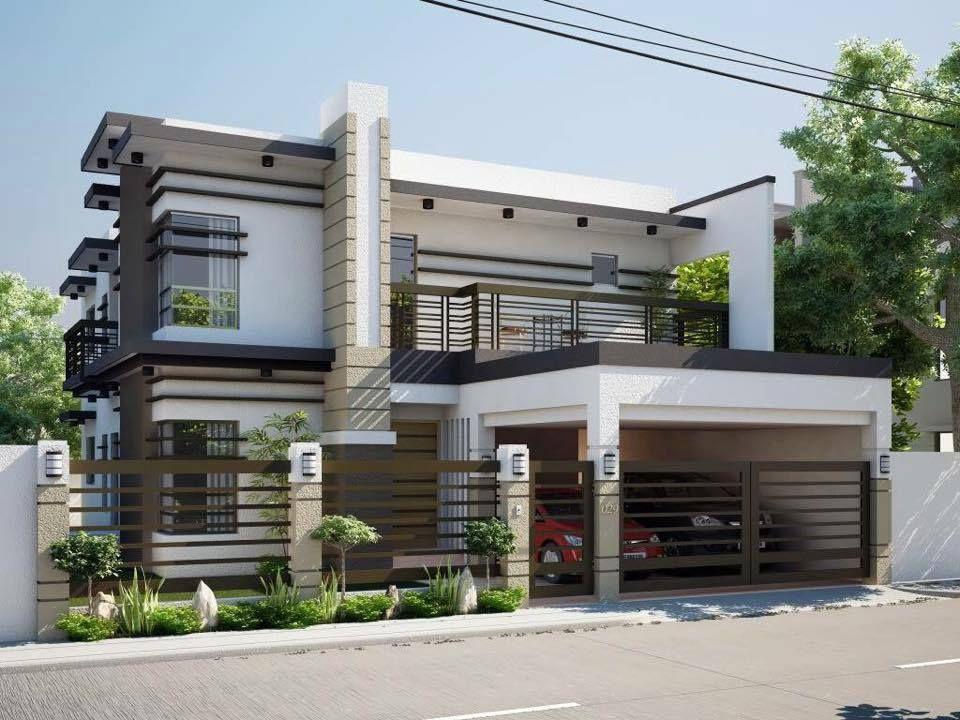 casa moderna 2 piani con inserti in legno a vista home