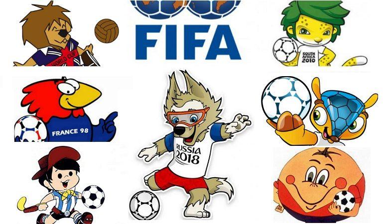 Mascotas De Los Mundiales De Fútbol A Lo Largo De La Historia De 1930 A 2018 Desde Willie Hasta Zabiva Mascota Del Mundial Mundial De Futbol Mascotas