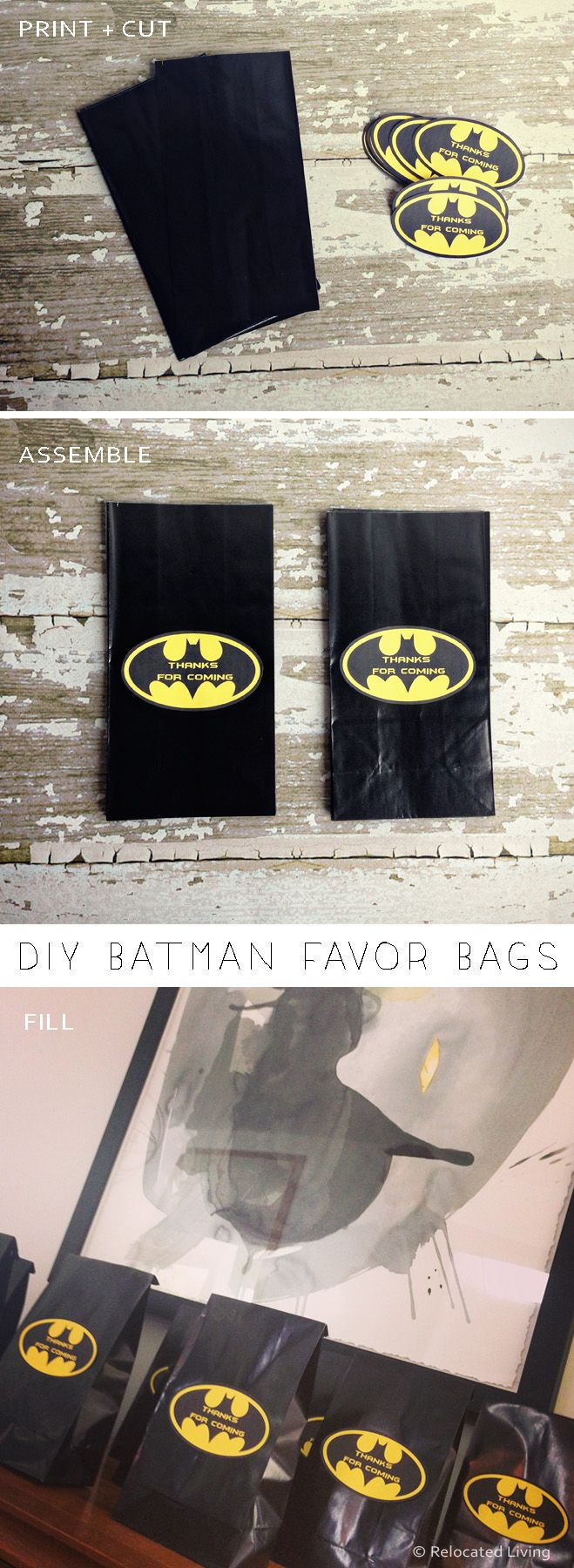 DIY Batman Favor Goodie Bags Birthday Parties Happy Party Favors
