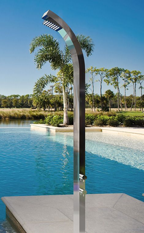 Outdoor Stainless Steel Shower by Jaclo | Design | Outdoor shower ...