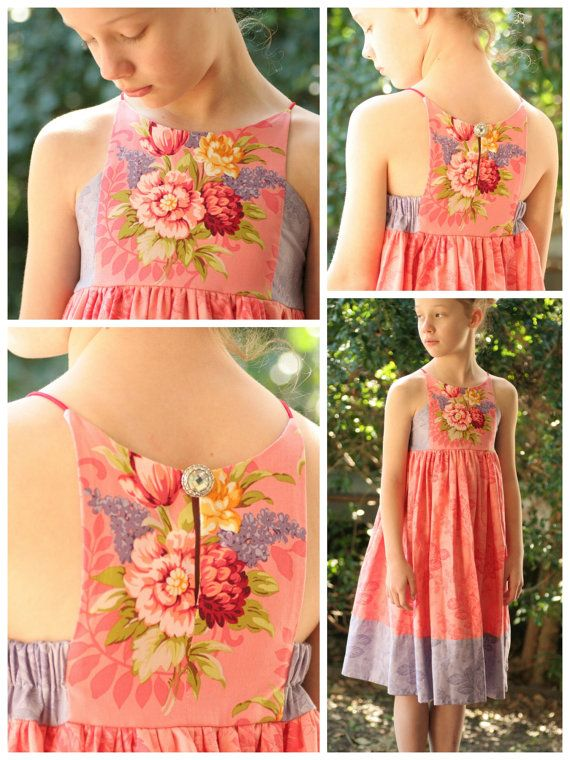 8216c8f2a Hourglass Dress girls  summer dress PDF by RabbitRabbitCreation ...