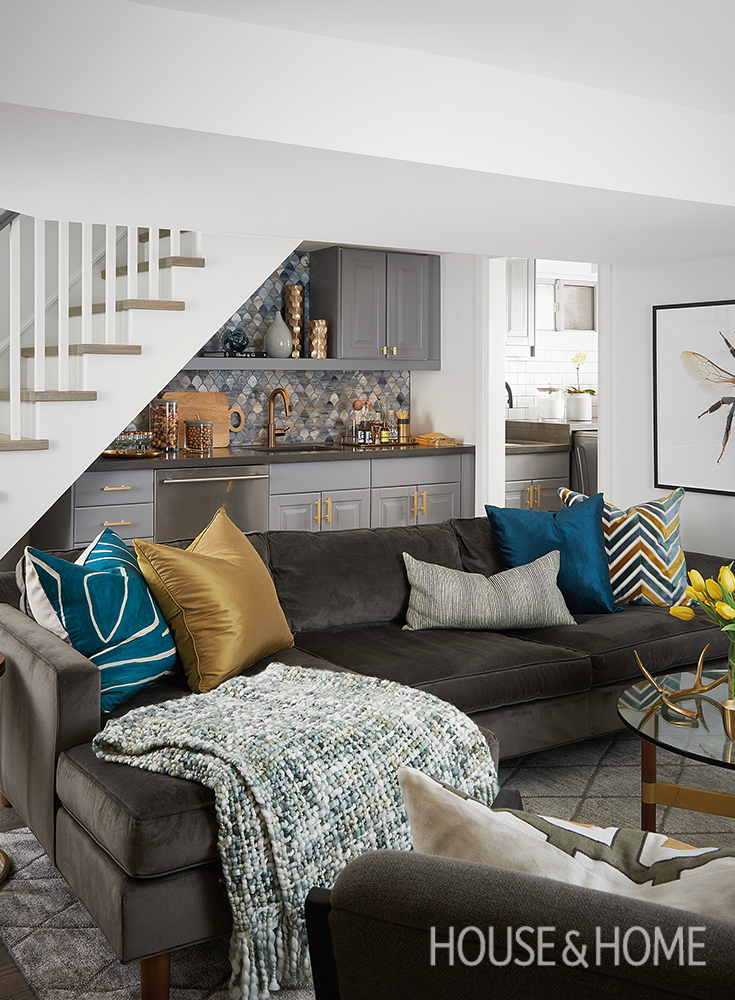 Nice See How Designer Erin Feasby Of Feasby U0026 Bleeks Design Transforms A Family  Basement Into A Hardworking Space That Maximizes Style And Square Footage. Gallery