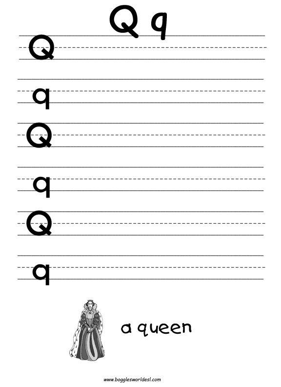 Qq1.jpg (576×792) Letter q worksheets, Tracing