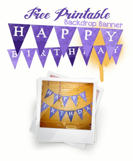 free printable birthday banner letters