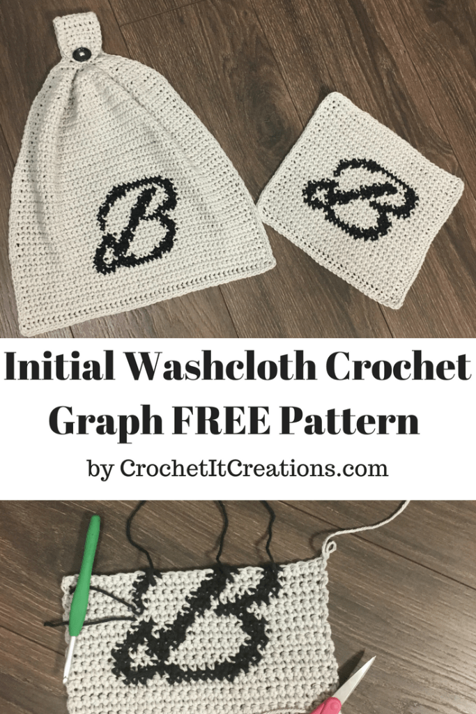 Initial Washcloth Crochet Graph Pattern | Crochet projects I want to ...
