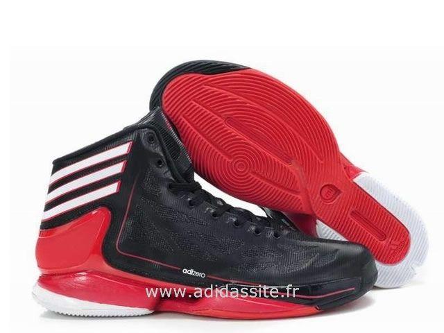 more photos a641f 5f051 Adidas guerre adiZero Crazy Light 2 II Deuxième Derrick Rose Hommes Noir  Rouge Bottes Solde Basket Adidas