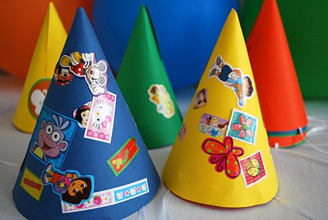 Stickers Birthday Party Theme Idea For Kids With Free Custom