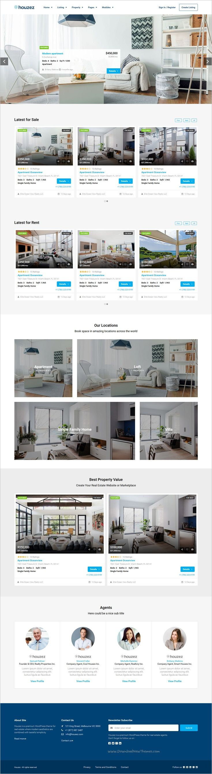 Houzez is a professional responsive #HTML Bootstrap #template for ...