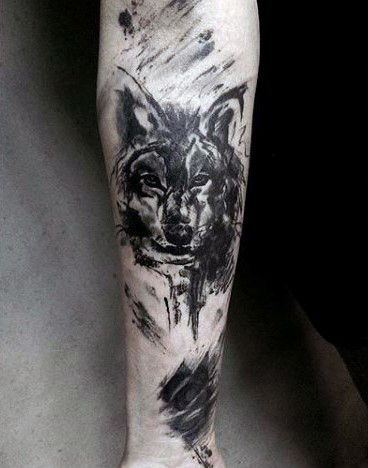 40 Wolf Forearm Tattoo Designs For Men , Masculine Ink Ideas