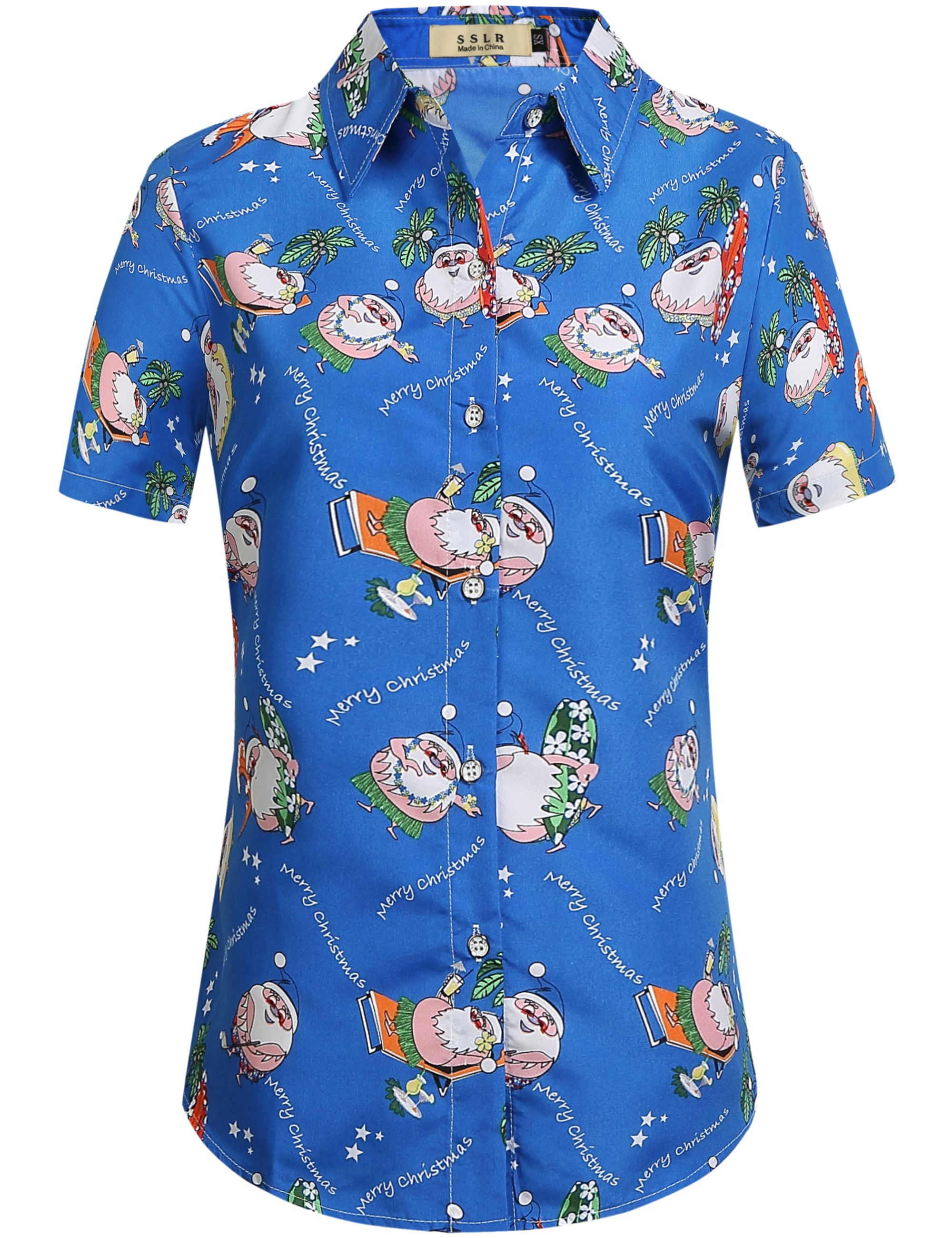 Christmas Hawaiian Shirt Womens.Pin On Christmas Hawaiian Shirt