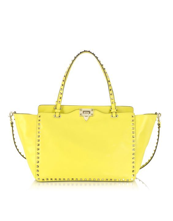 Valentino Handbags, Valentino Rockstud, Yellow Leather, Leather Totes, Leather  Bags, Naples, Cgi, Leather Tote Handbags, Leather Bum Bags