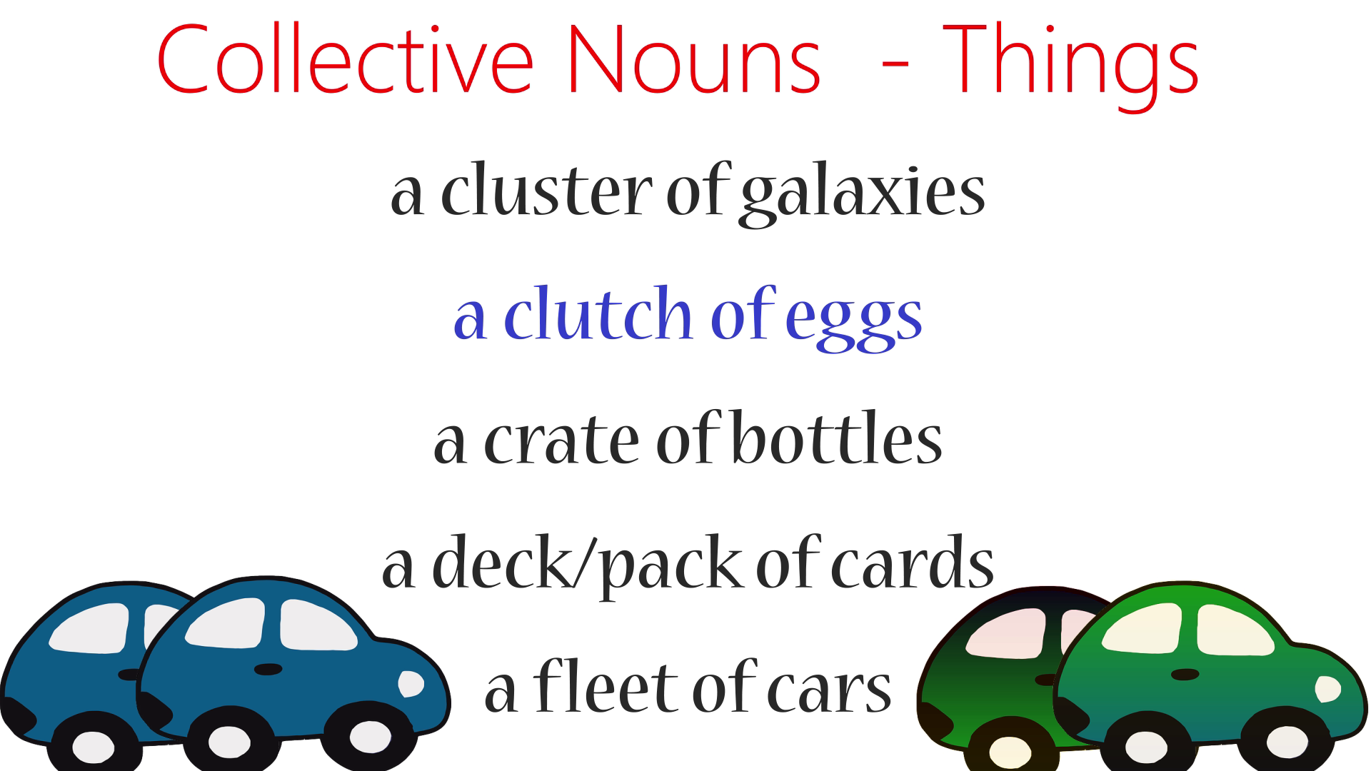 Collective Nouns For Things