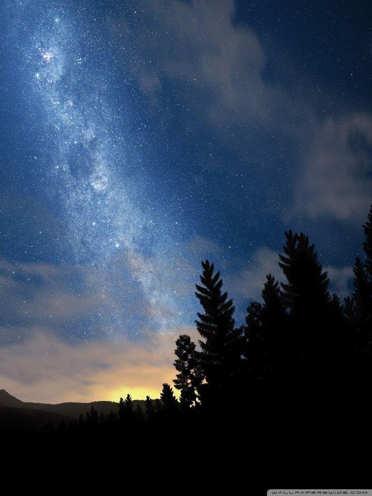Starry Night Sky Hd Desktop Wallpaper High Definition Night Sky Photography Starry Night Sky Desktop Wallpaper