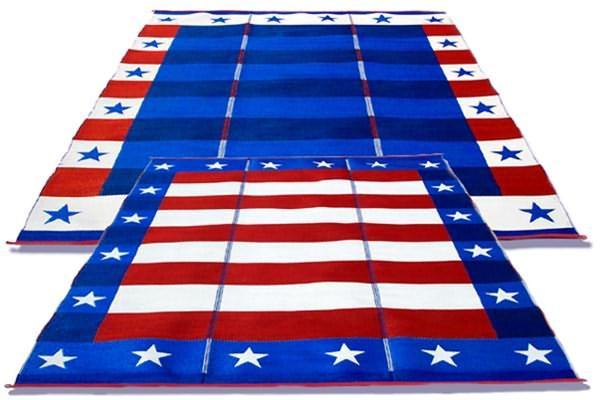 rv patio mat american flag awning mat