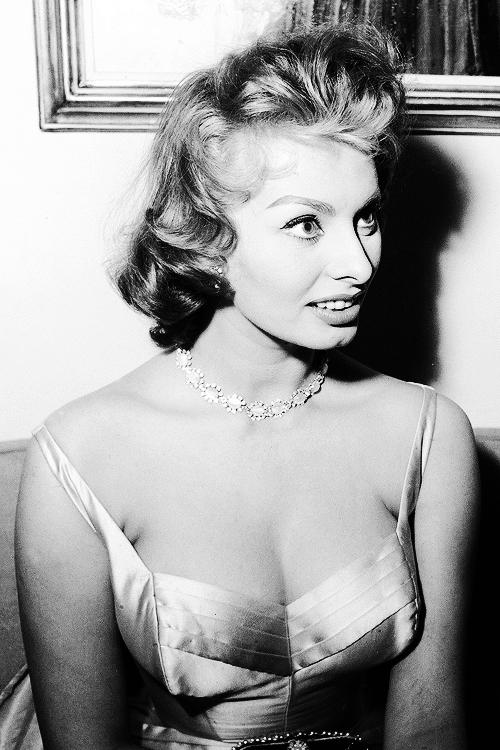"msmildred:  "" Sophia Loren, 1955.  """