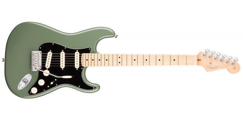 Fender american pro stratocaster antique olive maple guitar