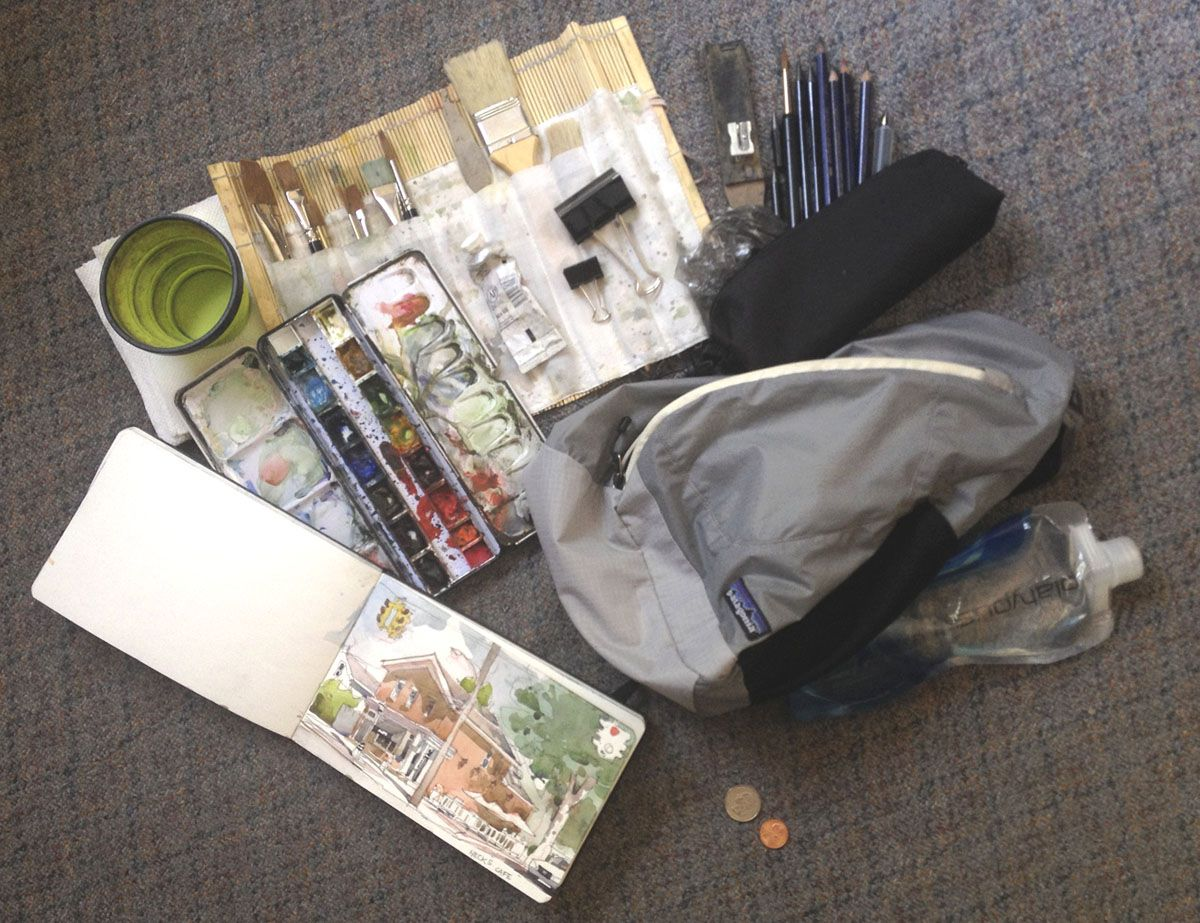 Watercolor Sketch Kit Watercolor Kit Watercolor Sketch Travel