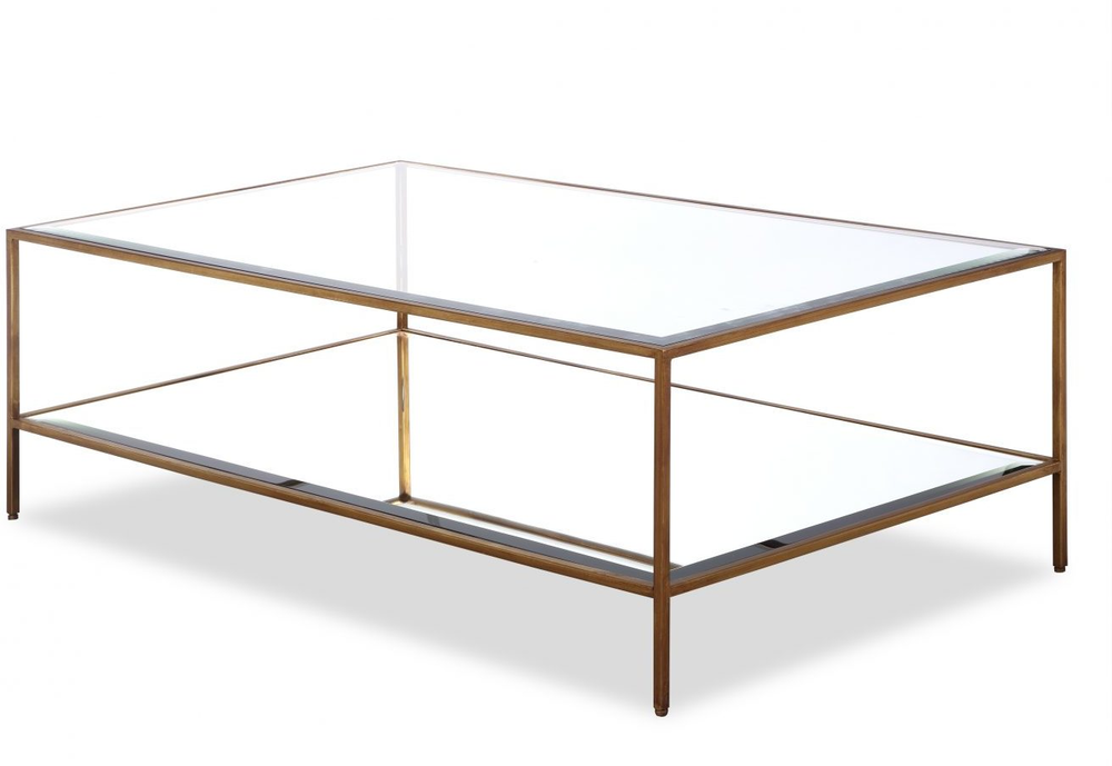 Gl Coffee Table Antique Steel Frame