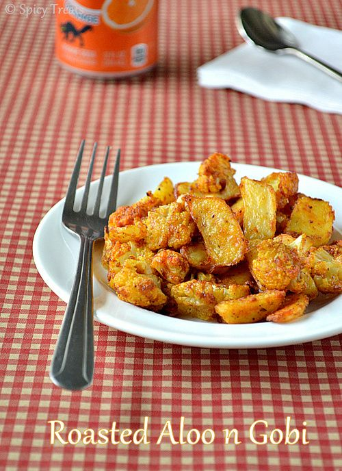 Oven roasted potatoes cauliflower with indian spices these oven roasted potatoes cauliflower with indian spices these veggies are crispy n flavorful best appetizer or even a side forumfinder Choice Image