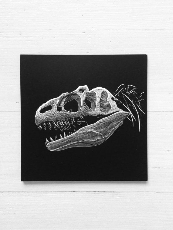 Dinosaur Anatomy #1. Original Etching by Erik Linton | Etchings ...
