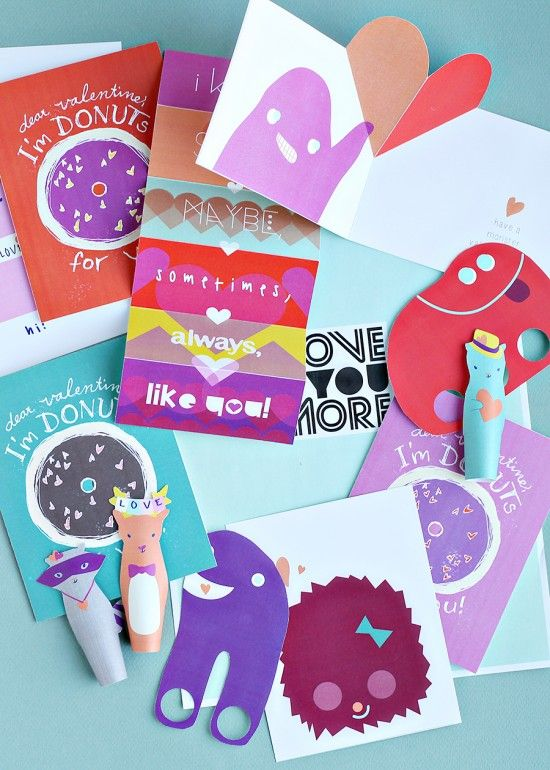 DIY Kids Class Valentines Crafts For Printable Paper Craft Projects
