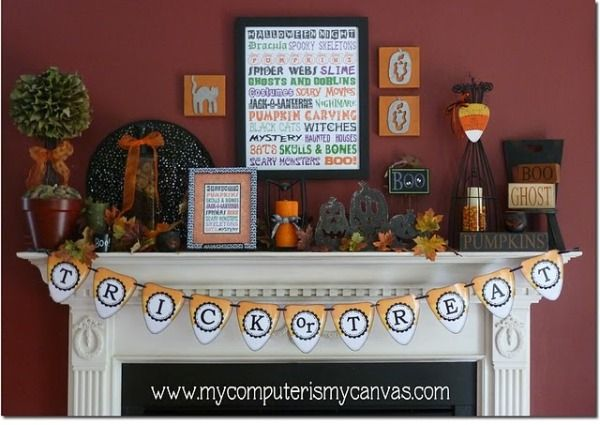 sophisticated halloween mantle Halloween/Birthday Pinterest