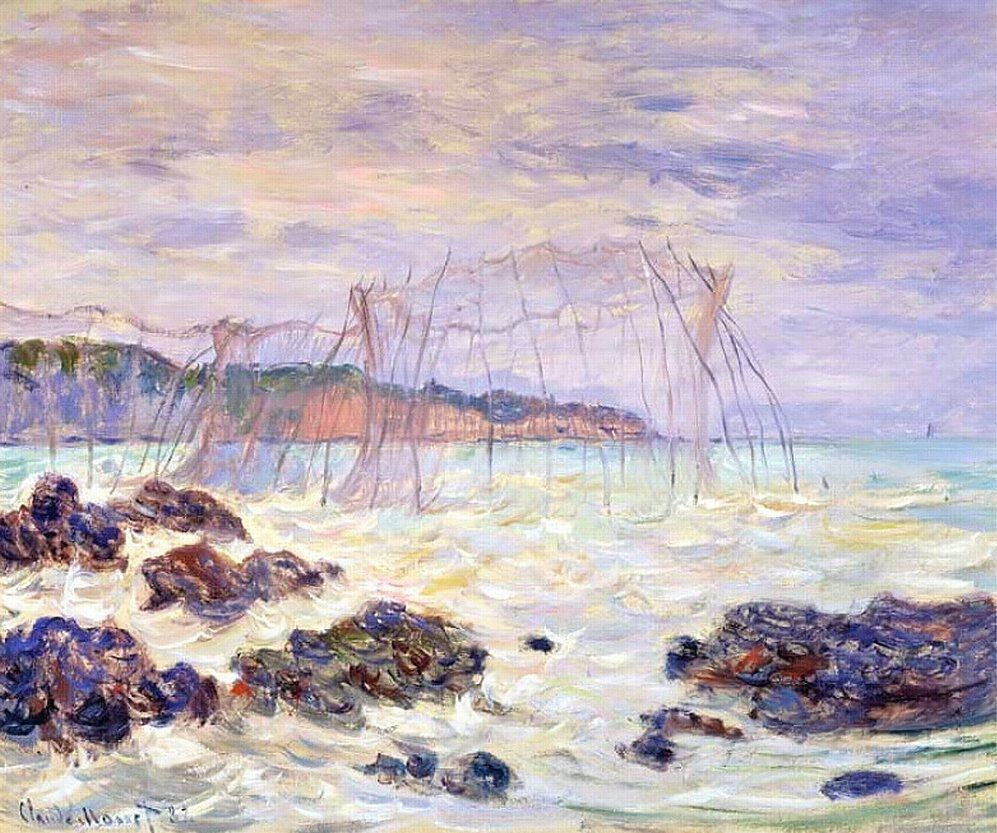 Les Filets à Pourville (C Monet - W 769),1882.